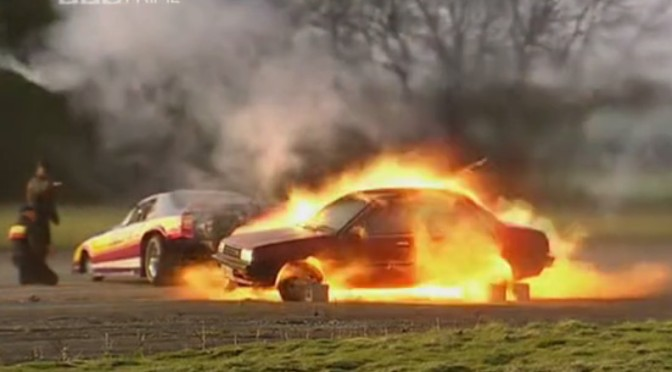 Top Gear 02-01: Jet Car incinerates Nissan Sunny