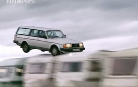 Top Gear 03-02: How many caravans can Volvo jump over?